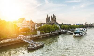 Cologne city in summer at the rhine river- Stock Photo or Stock Video of rcfotostock | RC-Photo-Stock