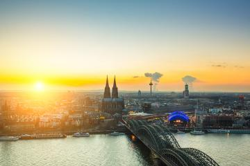 Cologne city panorama at sunset- Stock Photo or Stock Video of rcfotostock | RC-Photo-Stock