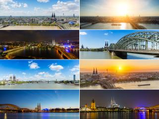 Cologne city panorama collage- Stock Photo or Stock Video of rcfotostock | RC-Photo-Stock