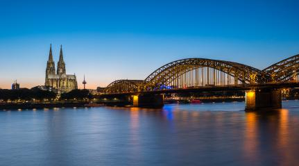 Cologne city skyline and Cologne Dom at night, Germany- Stock Photo or Stock Video of rcfotostock | RC-Photo-Stock