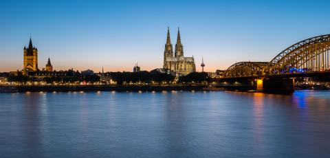 Cologne city skyline and Cologne Dom at sunset- Stock Photo or Stock Video of rcfotostock | RC-Photo-Stock