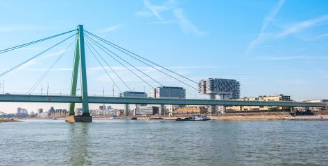Cologne city skyline and crane houses- Stock Photo or Stock Video of rcfotostock | RC-Photo-Stock