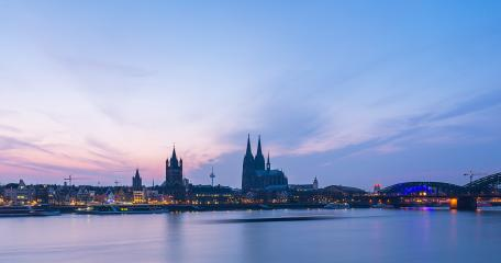 Cologne city Skyline at dusk - Stock Photo or Stock Video of rcfotostock | RC-Photo-Stock