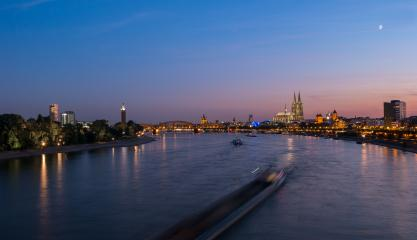 Cologne City Skyline at night- Stock Photo or Stock Video of rcfotostock | RC-Photo-Stock