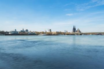 Cologne City Skyline at spring- Stock Photo or Stock Video of rcfotostock | RC-Photo-Stock