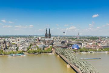 cologne city skyline at summer- Stock Photo or Stock Video of rcfotostock | RC-Photo-Stock