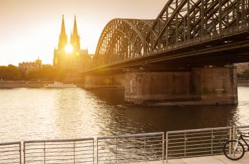 Cologne city skyline at sunset, Cologne, Germany- Stock Photo or Stock Video of rcfotostock   RC-Photo-Stock