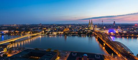cologne city skyline panorama at sunset- Stock Photo or Stock Video of rcfotostock | RC-Photo-Stock