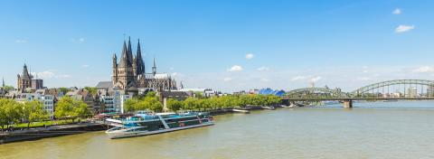 Cologne city skyline panorama with cathedral and Hohenzollern bridge- Stock Photo or Stock Video of rcfotostock | RC-Photo-Stock