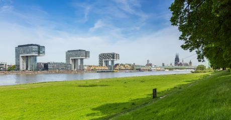 Cologne city view at the poller meadow- Stock Photo or Stock Video of rcfotostock | RC-Photo-Stock
