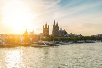 Cologne city with Cathedral and groos st. martin at sunset- Stock Photo or Stock Video of rcfotostock   RC-Photo-Stock