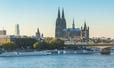 Cologne city with Cathedral at dusk- Stock Photo or Stock Video of rcfotostock | RC-Photo-Stock