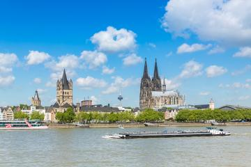 Cologne city with cathedral at summer- Stock Photo or Stock Video of rcfotostock | RC-Photo-Stock