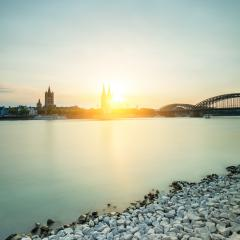 Cologne city with cathedral at sunset- Stock Photo or Stock Video of rcfotostock | RC-Photo-Stock