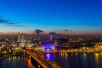 Cologne city with cathedral at sunset : Stock Photo or Stock Video Download rcfotostock photos, images and assets rcfotostock | RC-Photo-Stock.: