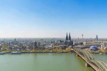 cologne city with cathedral in spring- Stock Photo or Stock Video of rcfotostock | RC-Photo-Stock