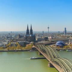 Cologne city with cologne cathedral at spring- Stock Photo or Stock Video of rcfotostock | RC-Photo-Stock