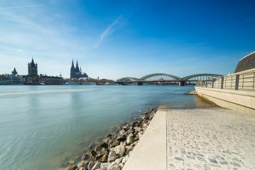 Cologne City with Rhine Boulevard deutz- Stock Photo or Stock Video of rcfotostock | RC-Photo-Stock