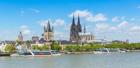 cologne Cityscape at summer- Stock Photo or Stock Video of rcfotostock | RC-Photo-Stock
