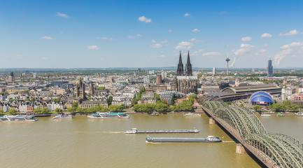 Cologne cityscape skyline panorama- Stock Photo or Stock Video of rcfotostock | RC-Photo-Stock