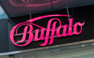 Cologne, GERMANY OCTOBER, 2017: Buffalo logo on a store. Buffalo is a brand of clothing and accessories, perhaps best known for its footwear, owned by the Buffalo Boots GmbH in Hochheim germany. : Stock Photo or Stock Video Download rcfotostock photos, images and assets rcfotostock | RC-Photo-Stock.: