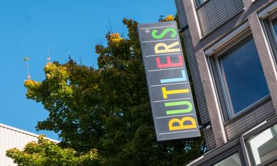 COLOGNE, GERMANY OCTOBER, 2017: Butlers store logo on a building, Butlers is a home accessories store in Frankfurt, Germany.- Stock Photo or Stock Video of rcfotostock | RC-Photo-Stock