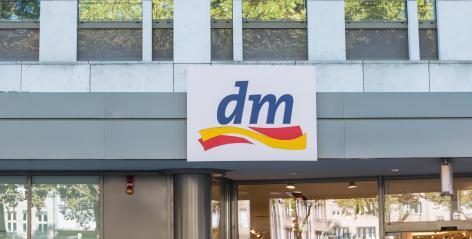 COLOGNE, GERMANY OCTOBER, 2017: Dm drogeriemarkt sign. Headquartered in Karlsruhe, Dm-drogerie markt is a chain of retail drugstore chain for cosmetics, healthcare and household products and food. : Stock Photo or Stock Video Download rcfotostock photos, images and assets rcfotostock | RC-Photo-Stock.: