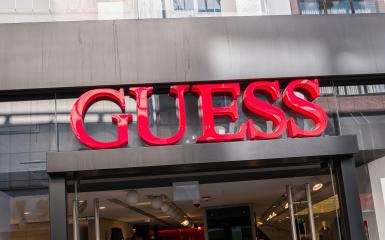 COLOGNE, GERMANY OCTOBER, 2017: Guess logo on a store front. Guess is an American upscale clothing line brand popular with its brand of jeans.- Stock Photo or Stock Video of rcfotostock | RC-Photo-Stock