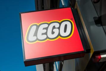 COLOGNE, GERMANY OCTOBER, 2017: Lego logo on a building. Lego is a line of plastic construction toys that are manufactured by The Lego Group, a privately held company based in Billund, Denmark.- Stock Photo or Stock Video of rcfotostock | RC-Photo-Stock