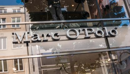 COLOGNE, GERMANY OCTOBER, 2017: Marc O Polo fashion company brand trademark logo on store front. Marc O'Polo is a Swedish-German fashion label - Stock Photo or Stock Video of rcfotostock | RC-Photo-Stock