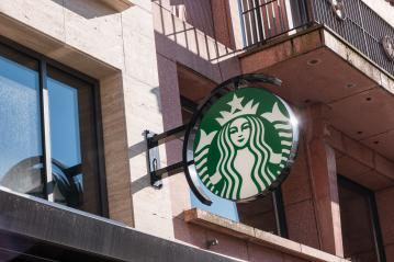 COLOGNE, GERMANY OCTOBER, 2017: Starbucks Coffee Store logo. Starbucks is the largest coffeehouse company in the world, with 20,891 stores in 62 countries.- Stock Photo or Stock Video of rcfotostock | RC-Photo-Stock
