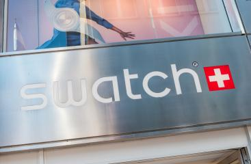 COLOGNE, GERMANY OCTOBER, 2017: Swatch watch store sign on a store. Swatch is a Swiss watchmaker founded in 1983 by Nicolas Hayek, and is subsidiary of The Swatch Group.- Stock Photo or Stock Video of rcfotostock | RC-Photo-Stock