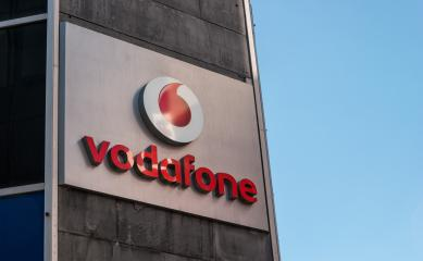 COLOGNE, GERMANY OCTOBER, 2017: Vodafone logo. Vodafone Group is a British telecommunications company headquartered in London and with its registered office in Newbury, Berkshire.- Stock Photo or Stock Video of rcfotostock | RC-Photo-Stock