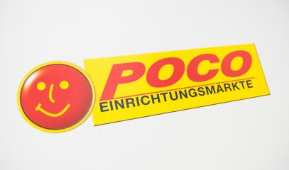 COLOGNE, GERMANY SEPTEMBER, 2017: poco logo. Poco ( Einrichtungsmaerkte ) is a german furniture market.- Stock Photo or Stock Video of rcfotostock | RC-Photo-Stock