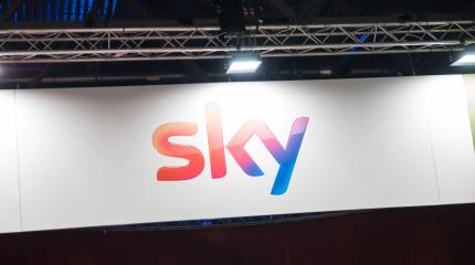 COLOGNE, GERMANY SEPTEMBER, 2017: Sky logo. Sky i a Pan-European satellite broadcasting, on-demand internet streaming media, broadband and telephone services.- Stock Photo or Stock Video of rcfotostock | RC-Photo-Stock