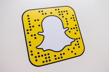 COLOGNE, GERMANY SEPTEMBER, 2017: Snapchat logo printed on a paper wall. Snapchat is a popular social media application for sharing messages, images and videos. : Stock Photo or Stock Video Download rcfotostock photos, images and assets rcfotostock | RC-Photo-Stock.: