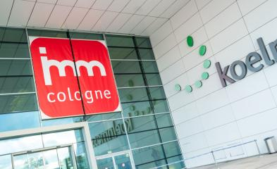 COLOGNE, GERMANY SEPTEMBER, 2019: imm Cologne - international exhibition of furniture and interior design. Logo at the main entrance to the exhibition Koelnmesse.- Stock Photo or Stock Video of rcfotostock | RC-Photo-Stock