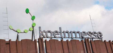 COLOGNE, GERMANY SEPTEMBER, 2019: Koelnmesse sign at the Entrance. With around 75 trade fairs annually, Koelnmesse is one of the largest trade fair organizers in Germany.- Stock Photo or Stock Video of rcfotostock | RC-Photo-Stock