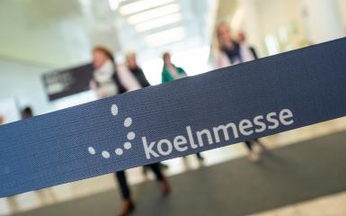 COLOGNE, GERMANY SEPTEMBER, 2019: Koelnmesse sign at the North Entrance. With around 75 trade fairs annually, Koelnmesse is one of the largest trade fair organizers in Germany.- Stock Photo or Stock Video of rcfotostock | RC-Photo-Stock