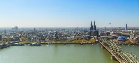 Cologne in spring panorama- Stock Photo or Stock Video of rcfotostock | RC-Photo-Stock