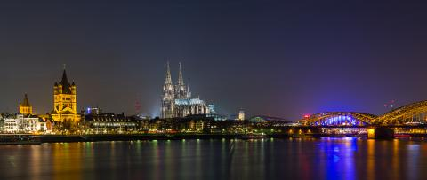 Cologne night Cityscape- Stock Photo or Stock Video of rcfotostock | RC-Photo-Stock