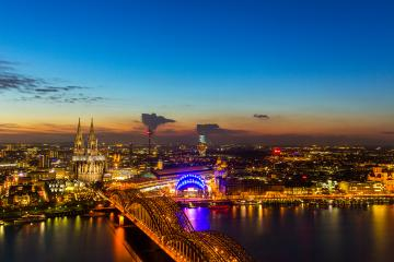 Cologne Night Cityscape : Stock Photo or Stock Video Download rcfotostock photos, images and assets rcfotostock | RC-Photo-Stock.: