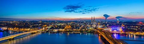 Cologne night panorama- Stock Photo or Stock Video of rcfotostock | RC-Photo-Stock