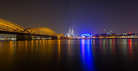 Cologne Night Skyline  : Stock Photo or Stock Video Download rcfotostock photos, images and assets rcfotostock | RC-Photo-Stock.: