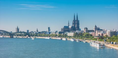 Cologne old city view on a sunny summer day- Stock Photo or Stock Video of rcfotostock | RC-Photo-Stock
