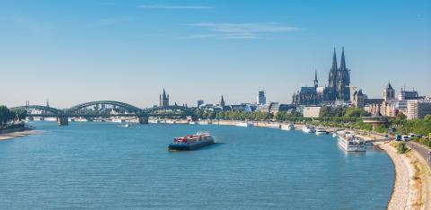 Cologne old town view with rhine river- Stock Photo or Stock Video of rcfotostock | RC-Photo-Stock