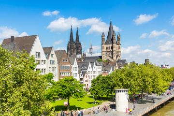 Cologne old town with cathedral at summer- Stock Photo or Stock Video of rcfotostock | RC-Photo-Stock