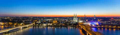 cologne panorama at sunset- Stock Photo or Stock Video of rcfotostock   RC-Photo-Stock