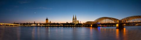 Cologne panorama at sunset- Stock Photo or Stock Video of rcfotostock | RC-Photo-Stock
