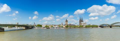 Cologne rhine shore panorama- Stock Photo or Stock Video of rcfotostock | RC-Photo-Stock